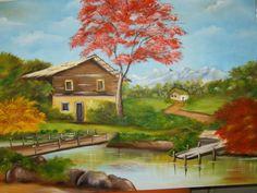 pintura em tela - Pesquisa Google Cenas Do Interior, South American Art, Paint Party, Home Art, Landscape Paintings, Origami, Canvas Art, Painting Art, Inspiration