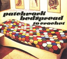Vintage Patchwork Afghan Crochet Pattern  by GrandmaHadItGoinOn
