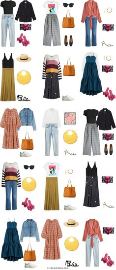 I have been putting together summer capsule wardrobes for different styles for the past couple of months. One that I have been asked to do a few times is an Artsy capsule wardrobe for summer. Capsule Wardrobe, Trend Fashion, Fashion Outfits, Spring Summer Fashion, Autumn Fashion, Look Blazer, Quoi Porter, Budget Fashion, Pink Outfits