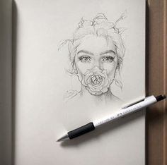 Mouth Mask Drawing – Block to CoronaVirus! Pencil Art Drawings, Art Drawings Sketches, Cool Drawings, Drawing Faces, Horse Drawings, Art It, Love Art, Mask Drawing, Arte Sketchbook