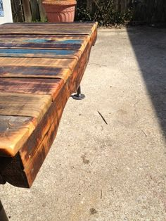 Reclaimed Wood Coffee Table With Iron Legs by WoodWorksByDaniel