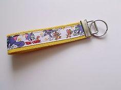 5.94$  Buy now - http://viowb.justgood.pw/vig/item.php?t=4lwnla42886 - New Handmade Tom and Jerry Inspired Cartoon Key Fob Wristlet Keychain Lanyard