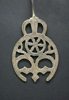 (Listed as Egypt) No it's Lybian | 'Hilal' pendant from the Siwa Oasis; silver | 20th century