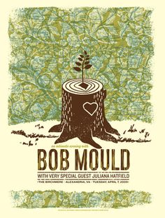 lovely bob mould gig poster