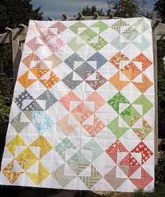 windmills quilt pattern- dang, that's a TON of triangles @Colleen Barton