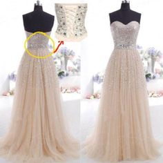 Hot sell Sheath Champagne Long Party Prom Evening Dress Bridesmaid Dresses 2-16 #Handmade #Sheath
