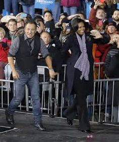 Bruce Springsteen & Michelle Obama