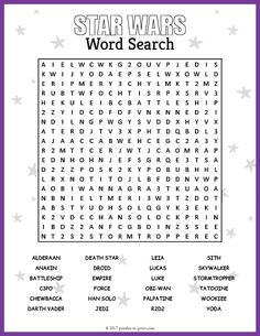 Star Wars: Free Printable Word Search