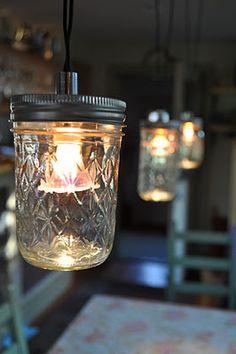 DIY Mason Jar Pendants