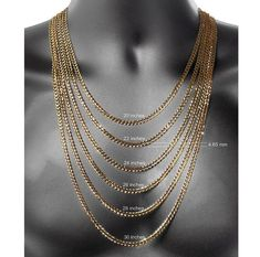 253ae74d966d Made in Italy Gold 24 Inch Hollow Figaro Chain Necklace - JCPenney