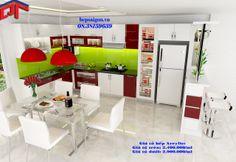 tủ bếp xinh, tủ bếp, tu bep, tủ bếp mfc, tủ bếp acrylic, tủ bếp gia đình, tủ bếp hiện đại,