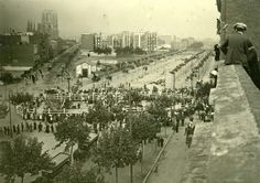 Diagonal/ P. de Sant Joan. 1914.Construcció monument a Verdaguer