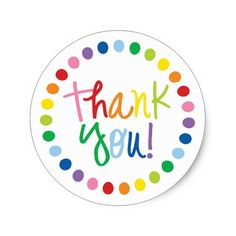 Rainbow Thank You Sticker