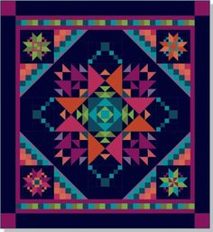 Amish With a Twist III quilt pattern by Nancy Rink.  September 2015 BOM at Stitchin' Heaven.