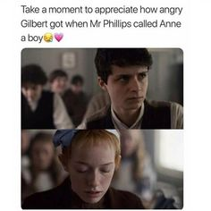 Ouat, Gilbert And Anne, Anne White, Gilbert Blythe, Anne With An E, Anne Shirley, Kindred Spirits, Book Memes, Pride And Prejudice