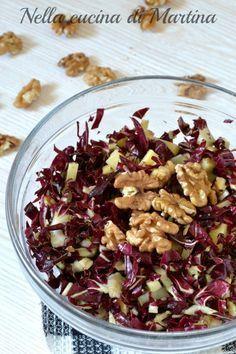 insalata rossa alle noci ricetta nella cucina di martina