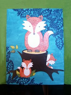 Fox Mixed Media Canvas #Tutorial #scrapbookSTEALS