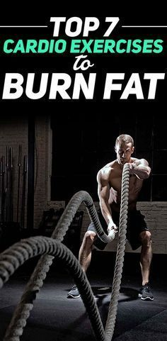 Check out the Top 7 Cardio Exercises to Burn Fat! #fitness #gym #workout #exercise #cardio #bellyfat #abs