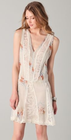 0fb5fe20 Haute Hippie Pleated Floral & Lace Dress Floral Lace Dress, White Dress,  Haute Hippie