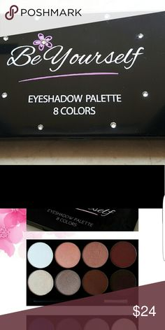 BE YOURSELF COSMETICS 8 Colors Eyeshadow Earthy A gorgeous basic natural 8 colors eyeshadow palette with Swarovski stones with modern matte and shimmer colors,  you will love it! It contains matte and shimmer colors.  Made in USA, animal cruelty free. Be Yourself Cosmetics Makeup Eyeshadow