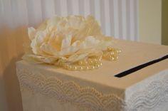 "Ivory Wedding Card Box -The ""Ann""-  Custom Order Wedding Card Box- box. $79.00, via Etsy."