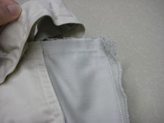 how to take in a waistband of jeans or any pant with center back seam and waistband.