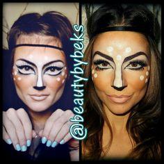 Halloween makeup. Halloween. Deer makeup.