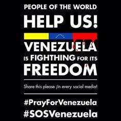 The world needs to know! #SOSVenezuela #PrayForVenezuela