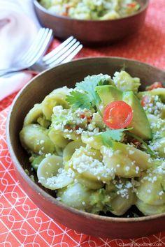 Guacamole Pasta Salad       hungryfoodlove.com