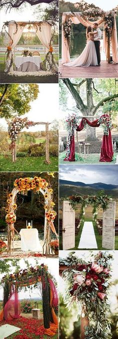wedding arches decoration ideas for fall #weddingdecoration