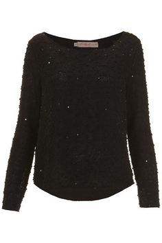 Black Bobble Scatter Sequin Jumper