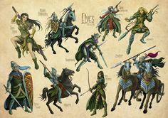 Lords of War - Elves by Steve Cox, via Behance