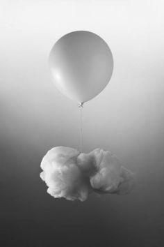 White Ballon With Cloud by Mayda Mason.
