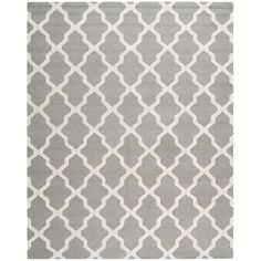 Safavieh Handmade Moroccan Cambridge Silver Wool Rug | Overstock™ Shopping - Great Deals on Safavieh 7x9 - 10x14 Rugs