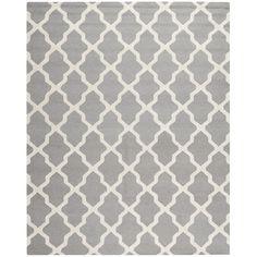 Safavieh Handmade Moroccan Cambridge Silver Wool Rug   Overstock.com Shopping - Great Deals on Safavieh 7x9 - 10x14 Rugs