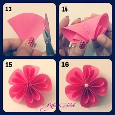 Easy origami kusudama flower and other origami figures folding flower tutoriald18 mightylinksfo