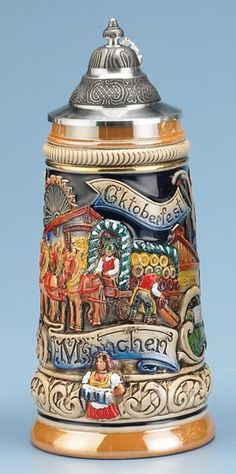 Traditional Drinking  Steins | Beer Steins History and Origin (octoberfest ideas)