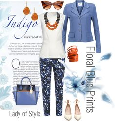 Floral Blue Prints   Lady of Style