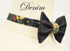 Jay Nicole's Bows Pre-tied Denim Adjustable Neckband #bowties #jaynicolesbows www.shopjaynicole.com