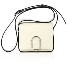 3.1 Phillip Lim Alix Mini Two-Tone Leather Crossbody Bag (62,465 INR) ❤ liked on Polyvore featuring bags, handbags, shoulder bags, apparel & accessories, leather crossbody, leather handbags, leather shoulder bag, leather crossbody handbags and mini crossbody purse