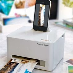 Photocube Smartphone Printer – No Ink Cartridge Required - This is the first printer that produces photo quality pictures directly from your docked device. Requiring no computer or software, the printer is controlled from your mobile phone via a free downloadable app. $160.00 #Photocube #SmartphonePrinter