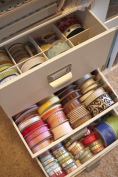 {Organization} Ribbon Storage Using Cardboard And Recollectionu0027s Cubes    Scrap This...and That! | Sewing Studio/Craft Room | Pinterest | Ribbon  Storage, ...