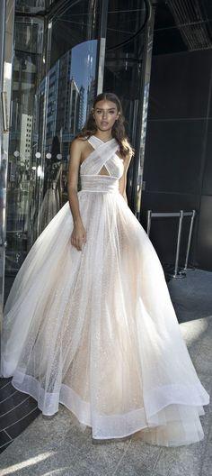sexy neckline a line wedding dress : Dimitrius DaliaWedding Dress - Diamond Bridal Collection #weddingideas #weddinginspiration #weddingdress #weddinggown #weddingdress #bridedress