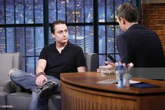 Actor Kieran Culkin during an interview with host Seth Meyers on September 4, 2014 --
