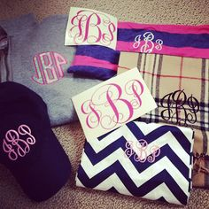 Describes me perfectly. I have everything imaginable monogramed.