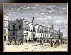 Palace of Mexico City 1800s.