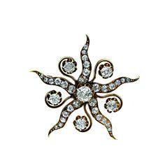 Victorian Star Pin - 50-1-1535 - Lang Antiques