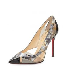 Christian Louboutin OFF! Christian Louboutin F/W Galata cutout patent red sole pump in black. Pointed Toe Pumps, Stiletto Heels, High Heels, Shoes Heels, Fab Shoes, Sexy Heels, Stilettos, Leopard Print Pumps, Cheap Christian Louboutin