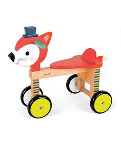 Another great find on #zulily! Forest Fox Ride-On Toy #zulilyfinds