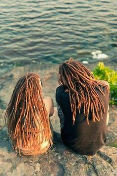 Dreadhead couple by the water, lovely